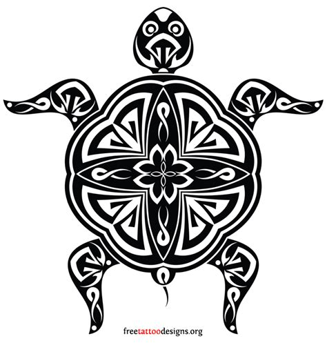 polynesian tribal turtle tattoos hawaiian sea turtle design