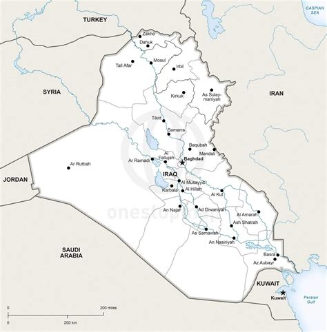 map for iraq vector map of iraq political one stop map