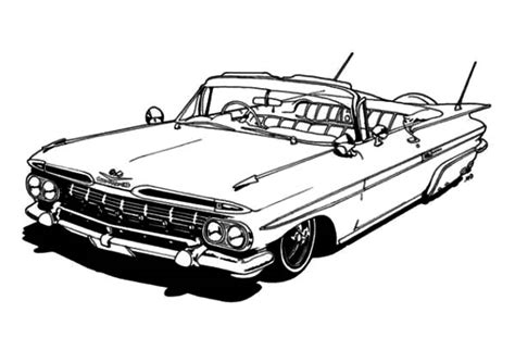 coloring pages lowrider cars lowrider trucks free coloring pages
