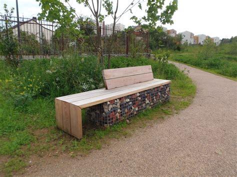 banc gabion am 233 nagement urbain bois loisirs creations sp 233 cialiste de