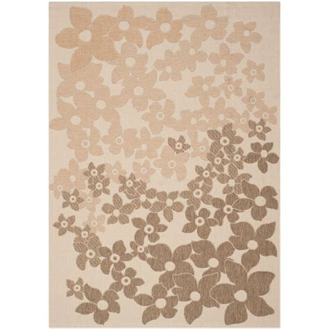 Safavieh Martha Stewart Beige Brown 4 Ft X 5 Ft 7 In Martha Stewart Outdoor Rugs