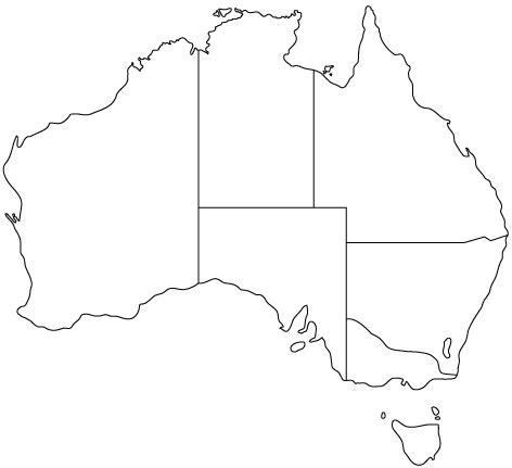 blank map of australia printable australia state outline map