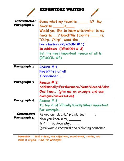 Elementary Essay Exles by Conclusion Paragraph Format Elementary Students