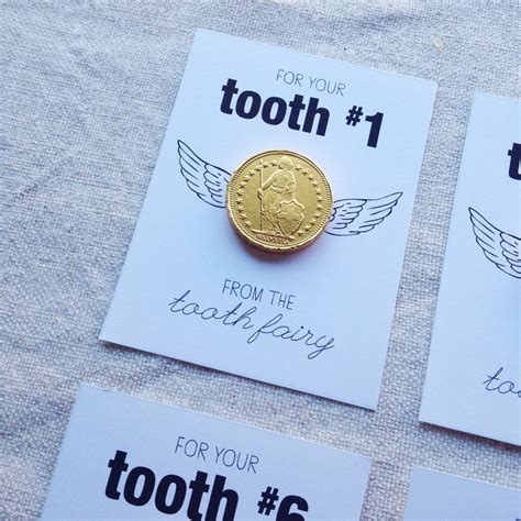 printable card from tooth fairy gold coin tooth fairy free printable printables