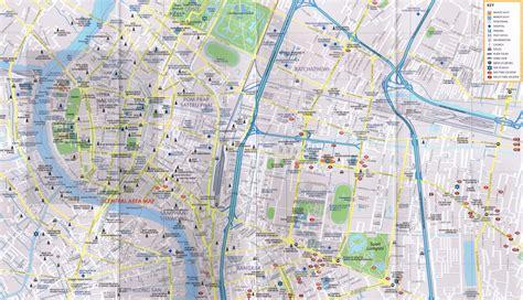 bangkok map bangkok map world of map