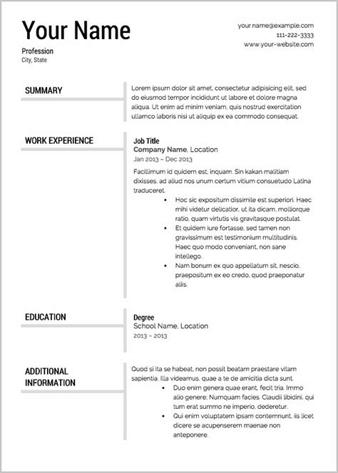 28 free no cost resume builder