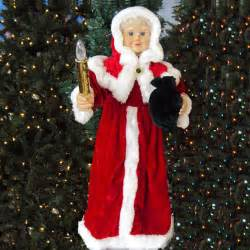 24 quot animated mrs claus w lighted candle indoor
