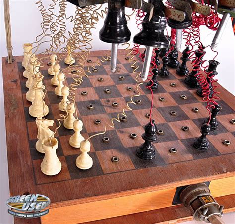 chess styles christopher lloyd quot doc brown quot 1950s style chess set from