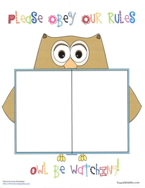 free printable templates for posters classroom rules poster printable