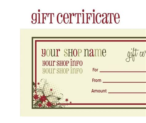 personalized gift certificate template custom printed gift certificates template update234