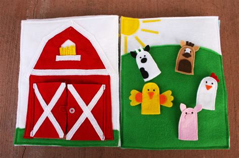 quiet book barn pattern sunshine lollipops and rainbows farming quiet book