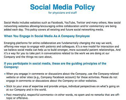Hlwiki Canada Simple Social Media Policy Template