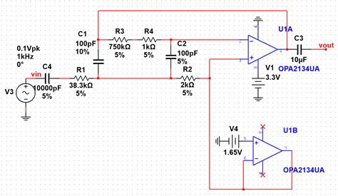 high pass filter using multisim op band pass filter unstable and lower gain than simulation electrical engineering stack