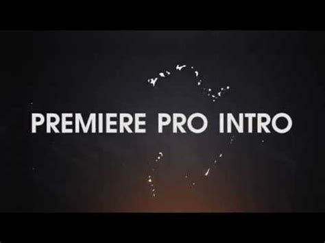 premiere pro intro template free download youtube
