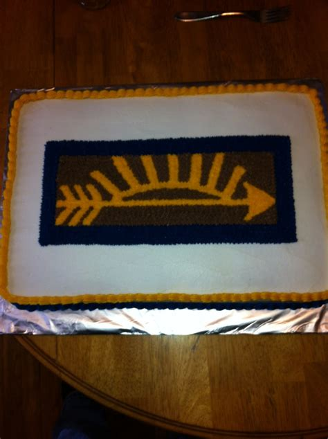 boy scout arrow of webelos arrow of light cake scout stuff pinterest