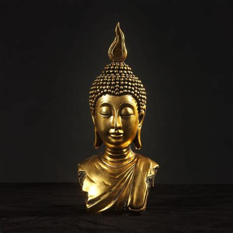 Decorative Statues by Buddha Peace Buddha Statue Bodhisattva Home Decor Resin Crafts Ornaments 2 Color
