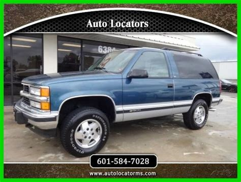 how to work on cars 1995 chevrolet k5 blazer electronic valve timing 1994 chevrolet blazer 4x4 for sale photos technical specifications description