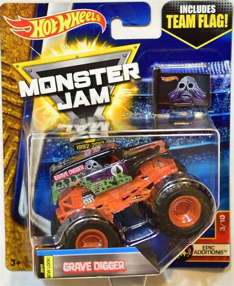 monster jam truck games amazon com wheels monster jam 2017 team flag grave