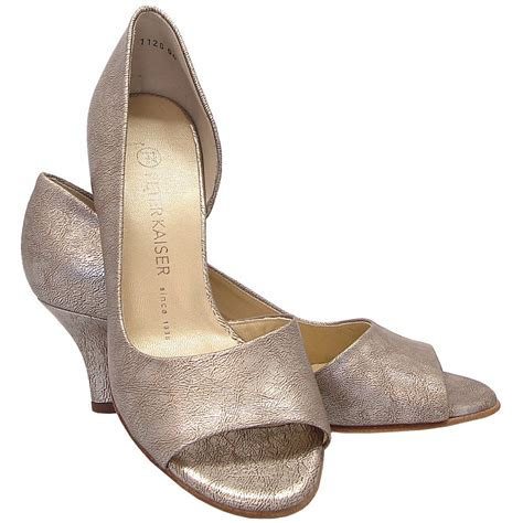 toe shoes kaiser jamala 13 open toe shoes in metallic