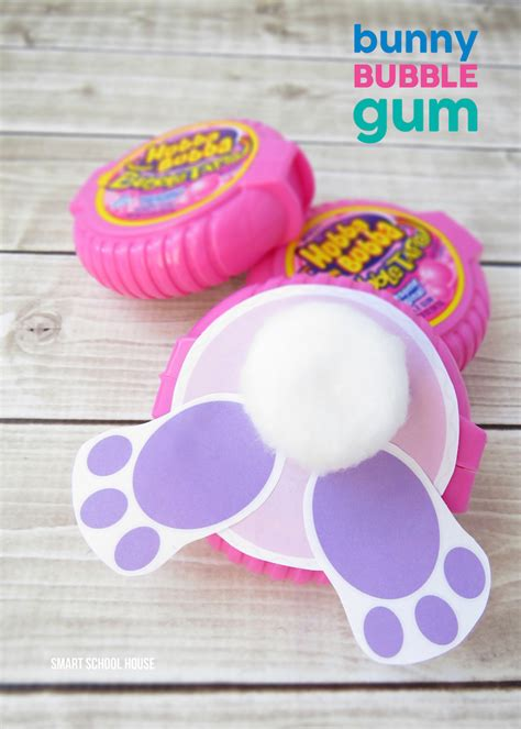 diy easter gifts bunny bubble gum