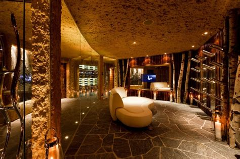 Mountain Homes Interiors | modern cabinet 5 star luxury mountain home with an amazing interiors in swiss alps