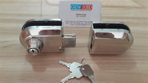 Grendel Overval Besi 3 jual kunci grendel pintu kaca glass door lock harga murah jakarta oleh ud 2000
