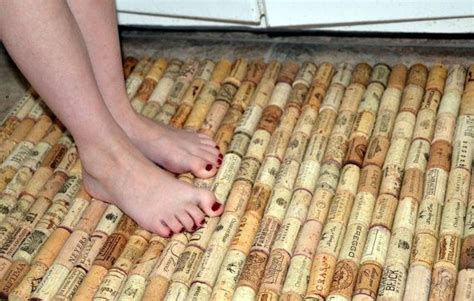 1 Foot By 1 Foot Cork Mats - hmmmm could i make this bath rug made with recycled