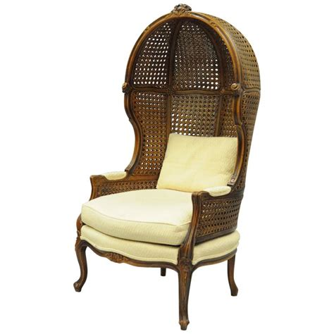 french canopy chair vintage french country louis xv style double cane italian