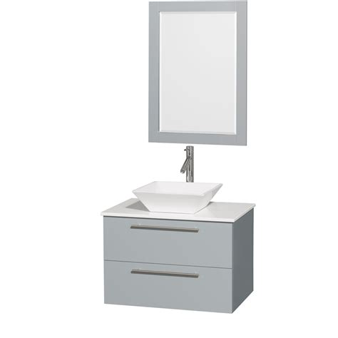 amare bathroom vanity amare 30 quot wall mounted bathroom vanity set with vessel sink by wyndham collection