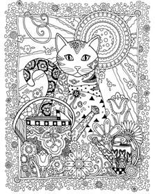 creative coloring books creative cats coloring book for adults plaza