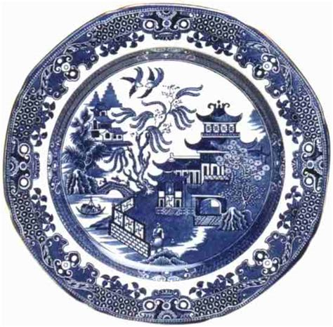blue pattern crockery willow pattern