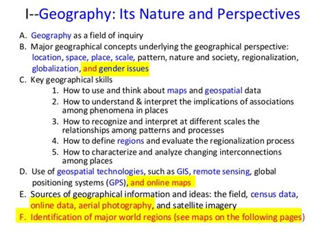 Perspectives Course Outline by 2013 Aphg Course Outline