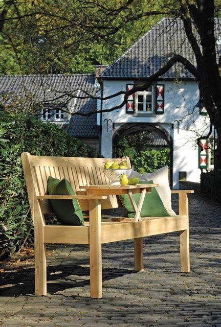 Herbstdeko Gartenbank by Bank Mit Klapptisch Gartenliege Selbst De