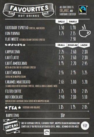 design menu coffee esquires coffee favourites menu coffee pinterest