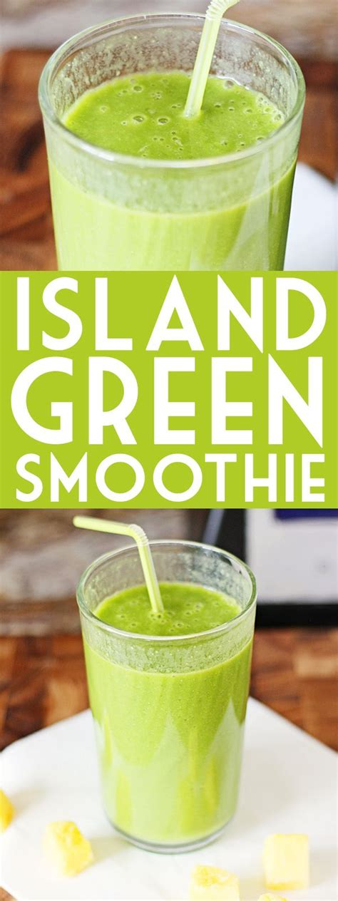 What Is In A Detox Island Green Smoothie by Island Green Smoothie Recipe Baby Spinach Almond Milk