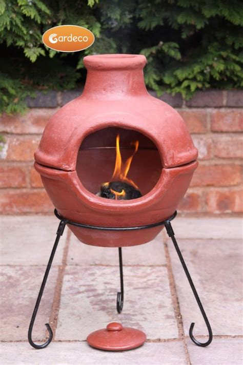 chiminea pit clay new cozumel clay chiminea pit wood burner patio