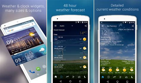 best free android weather widget top 6 best android weather widget app 2017
