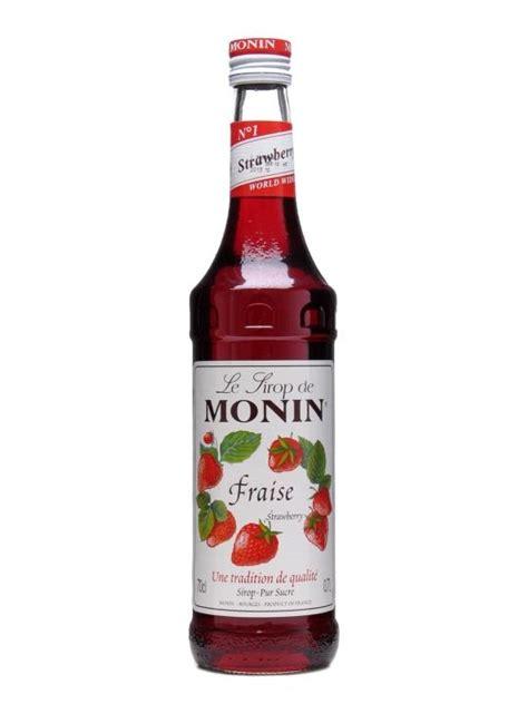 Strawberry Syrup Merk Monin monin strawberry syrup the whisky exchange