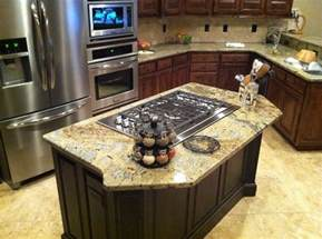 stove in island kitchens 17 best images about island cooktop on maple cabinets ovens and black countertops