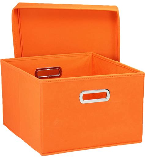 in collapsible storage box collapsible storage box orange set of 2 in decorative