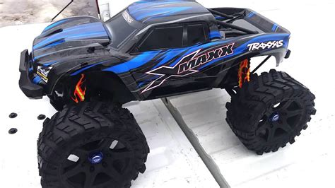 Madmax Traxxas X Maxx Wheels Tires On Rims 1 5 Hpi Km Baja 5b traxxas xmaxx with madmax wheels