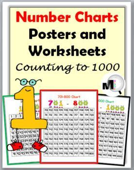 number charts   posters worksheets number chart elementary math math lessons