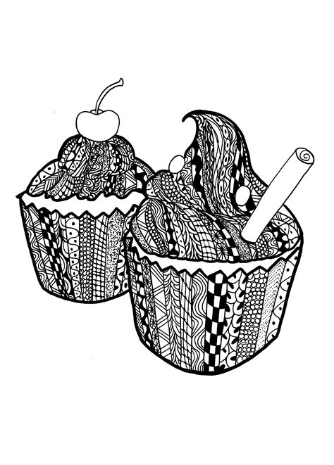 %name Paris Coloring Book   Cupcakes zentangle celine   Cupcakes and cakes   Coloring pages for adults   JustColor