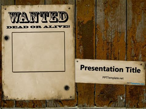 wanted poster template powerpoint free ppt background templates powerpoint slide designs