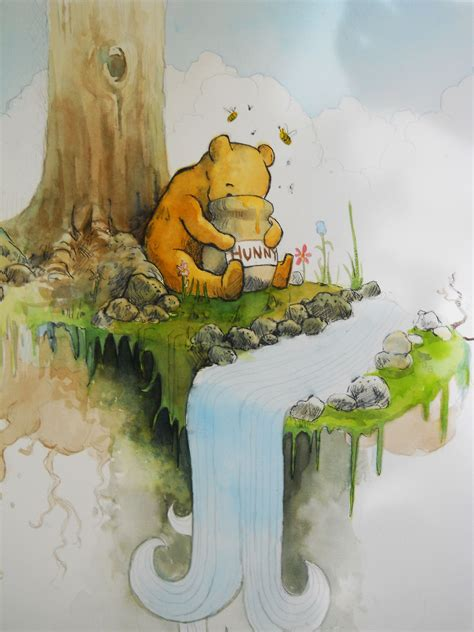 winnie the pooh painting winnie the pooh by oswalddent on deviantart
