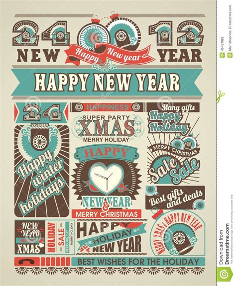 news newspaper happy  year  merry christmas stock vector image