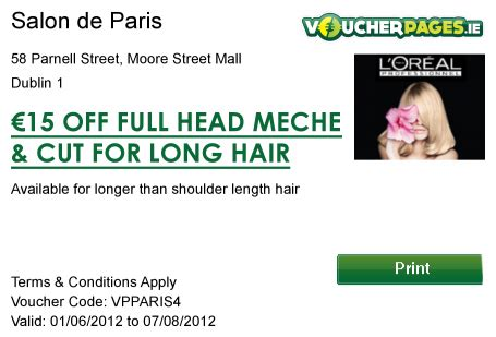 haircut deals limerick salon de paris coupons dublin 1