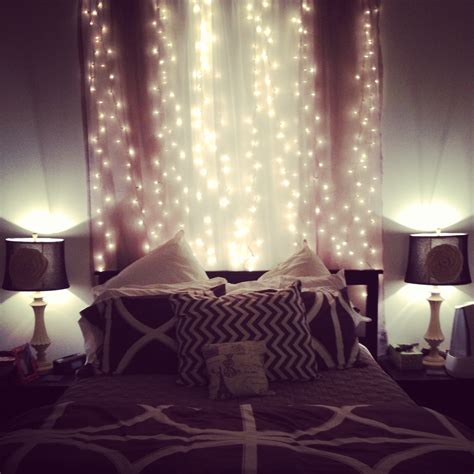 bed bedroom princess ikea fairylights and pink