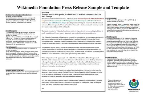 conference press release template file wikimedia foundation press release template pdf