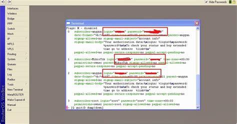 cara melihat kuota pembagian cara mengetahui password usermanager mikrotik yang di lupa